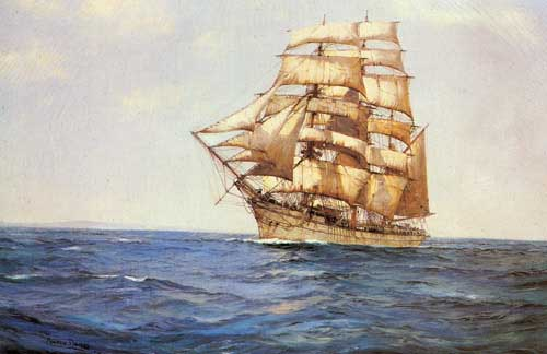 2334 Montague dawson paintings oil paintings for sale