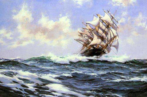 2336 Montague dawson paintings oil paintings for sale