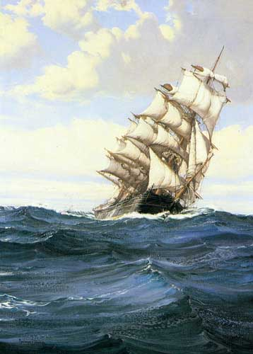 2338 Montague dawson paintings oil paintings for sale