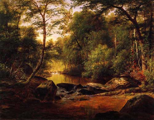 Oil Paintings Production:George Hetzel - A River Landscape hspace=
