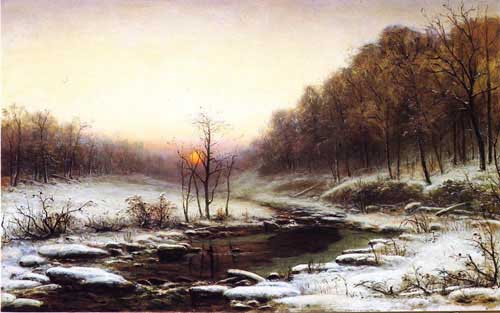 Oil Paintings Production:George Hetzel - Winter Morning hspace=