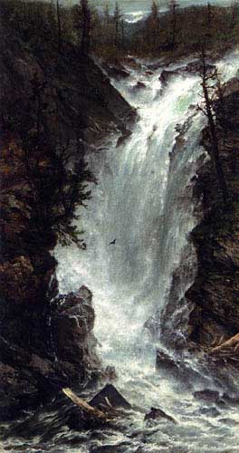 Oil Paintings Production:Homer Dodge Martin - The Waterfall hspace=