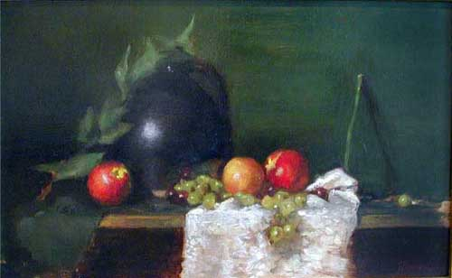 Oil Paintings Production:Fruit and Black Pot hspace=