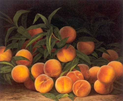 Oil Paintings Production:William Mason Brown - Peaches Still Life hspace=