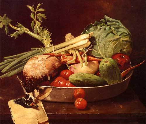 Oil Paintings Production:William Merritt Chase - Still Life with Vegetables hspace=
