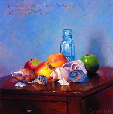 Oil Paintings Production:Still Life on Tabletop hspace=