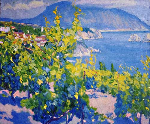 Oil Paintings Production:Gataullina Milya: Sea and Vineyards hspace=