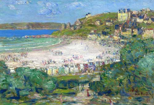 Oil Paintings Production:Frederick Childe Hassam: Perros-Guire, Cotes du Nord, France hspace=