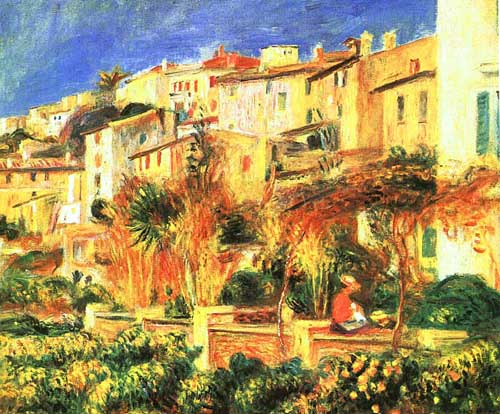 Oil Paintings Production:Renoir, Pierre-Auguste: Terrace at Cagnes hspace=