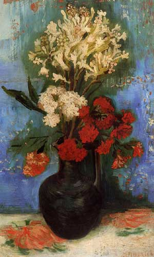 Oil Paintings Production:Vincent Van Gogh: Vase with Carnations and Other Flowers hspace=