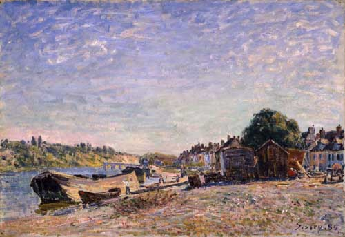 Painting Code#40348-Sisley, Alfred - Les Bords du Loing a Saint Mammes