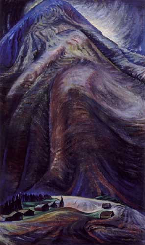 Painting Code#41004-Emily Carr(Canadian, 1871-1945): The Mountain