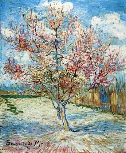 Painting Code#41582-Vincent Van Gogh - Peach Trees in Blossom
