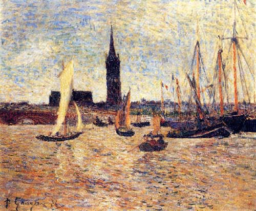Oil Paintings Production:Gauguin, Paul - Bordeaux Harbor hspace=