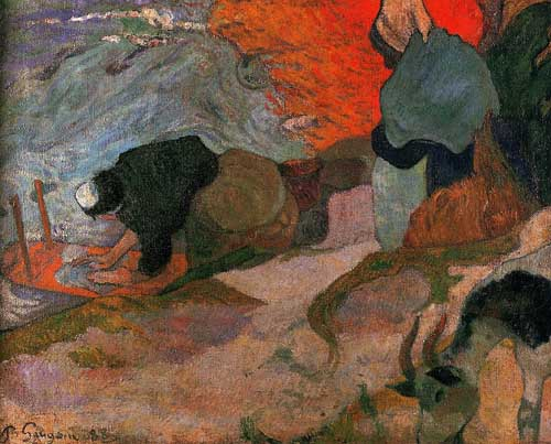 Painting Code#42224-Gauguin, Paul - Washerwomen