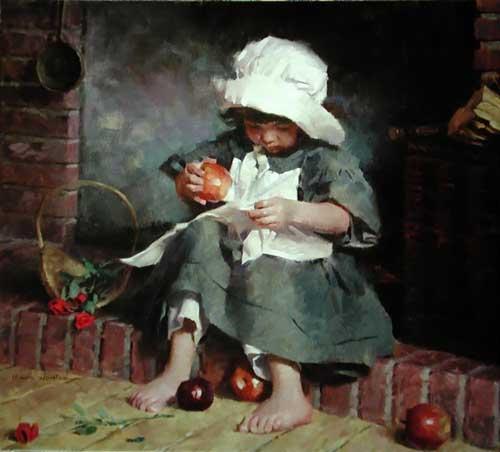 45005 Children oil paintings oil paintings for sale