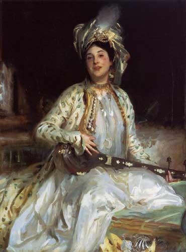 Oil Paintings Production:Sargent, John Singer(USA): Almina, Daughter of Asher Wertheimer hspace=