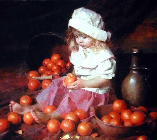 45031 Children oil paintings oil paintings for sale