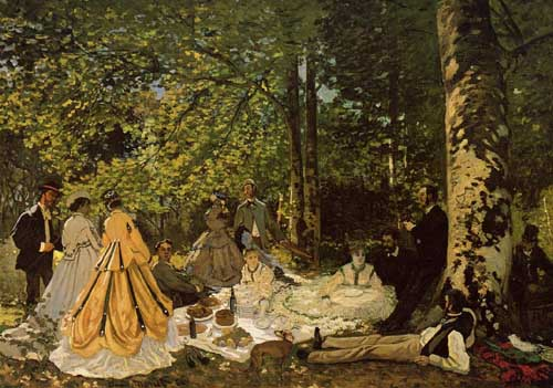 Oil Paintings Production:Monet, Claude - Luncheon on the Grass hspace=