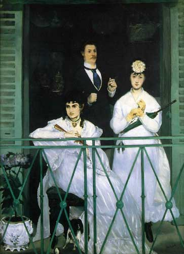 Painting Code#45150-Manet, Edouard(France): The Balcony