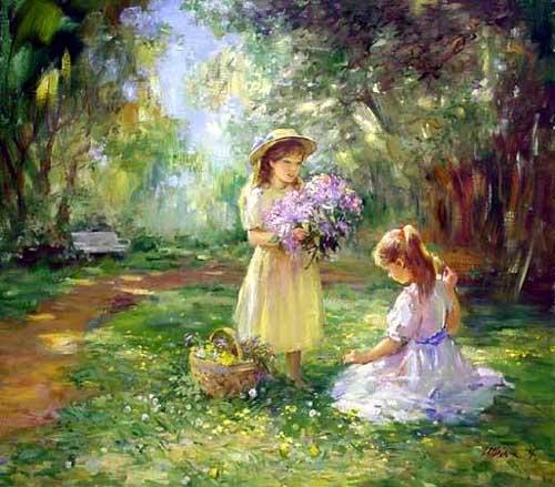 45247 Children oil paintings oil paintings for sale