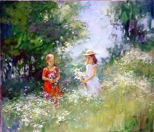 45249 Children oil paintings oil paintings for sale