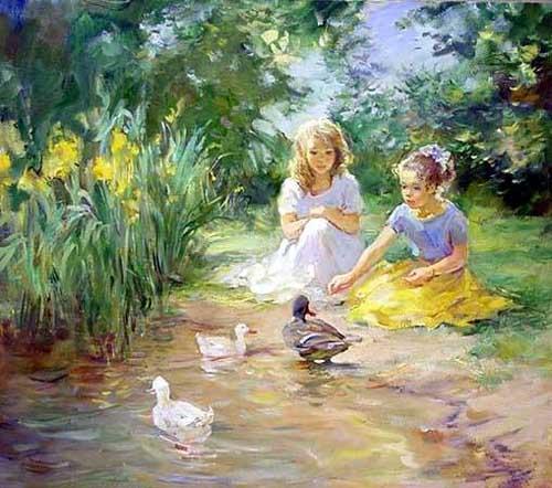 45250 Children oil paintings oil paintings for sale