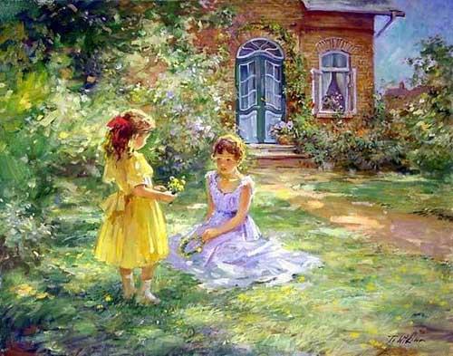 45252 Children oil paintings oil paintings for sale