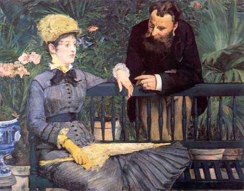 Painting Code#45502-Manet, Edouard(France): In the Conservatory