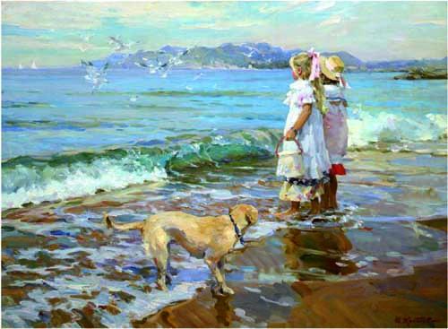 46260 Children oil paintings oil paintings for sale