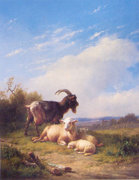 Oil Paintings Production:Goats hspace=