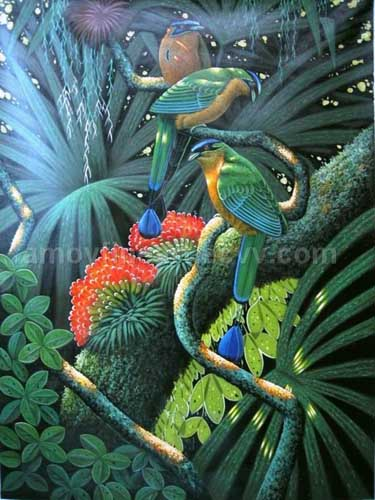 Oil Paintings Production:Fancy Birds hspace=