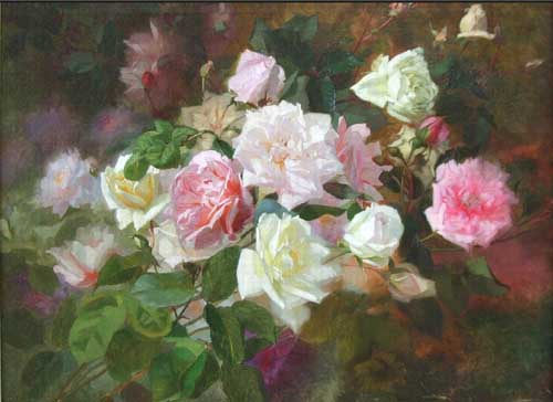 Oil Paintings Production:Bruyas, Marc-Laurent - Study of Roses hspace=