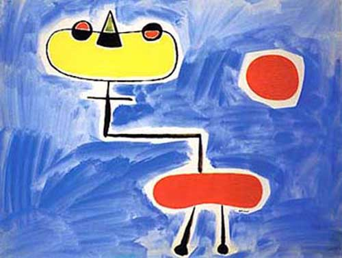 Oil Paintings Production:Joan Miro: Figur vor roter Sonne hspace=