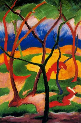 70237 Franz Marc Paintings oil paintings for sale