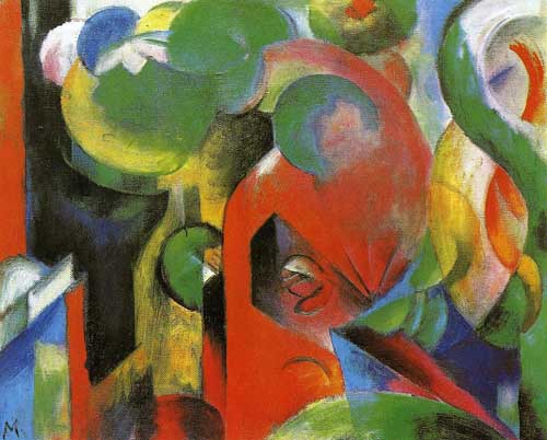 70324 Franz Marc Paintings oil paintings for sale