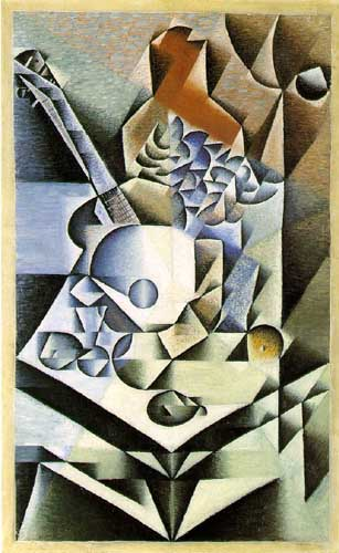 Painting Code#7603-Juan Gris: Still Life with Flowers