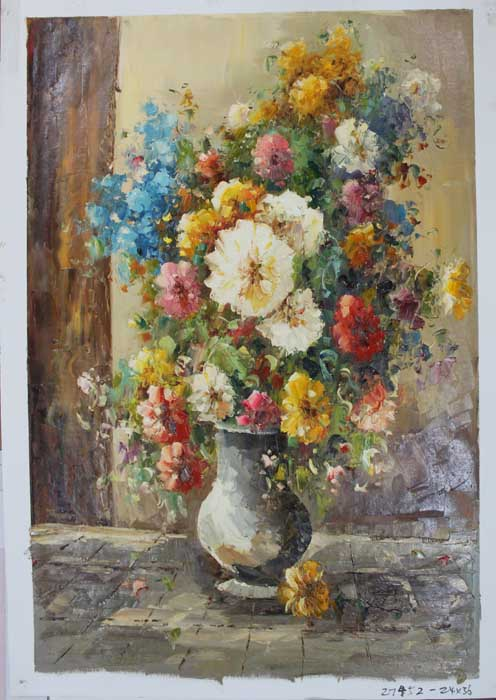 Painting Code#s127452-Floral Still Life Painting