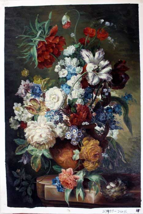 Painting Code#s127459-Floral Still Life Painting